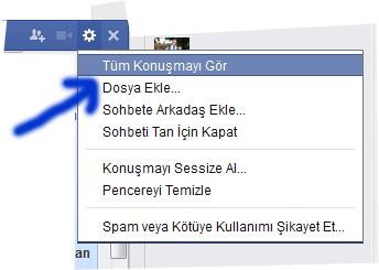 facebook dosya gonder