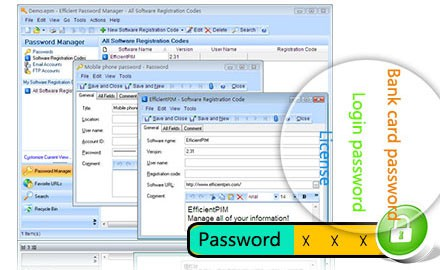 Efficient Password Manager  şifre yönetimi